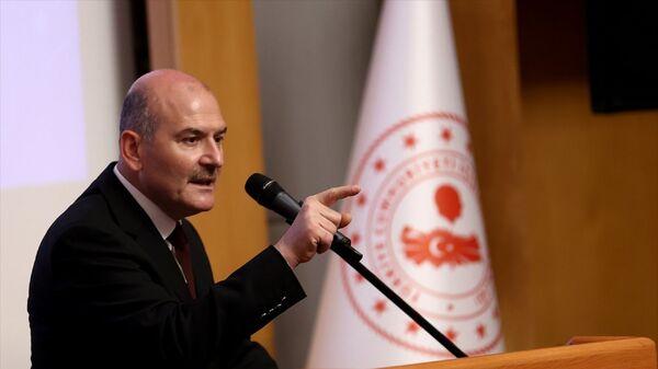 İçişleri Bakanı Süleyman Soylu, Eğitim Daire Başkanlığında 109. dönem kaymakam adayları oryantasyon kursu açılış programına katıldı. - Sputnik Türkiye