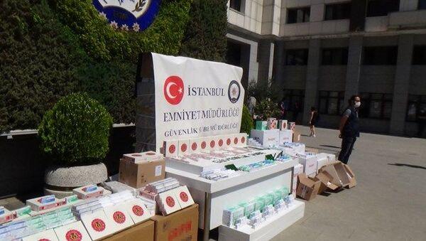 Bağcılar'da Interpol operasyonu: 260 bin sahte hap ele geçirildi - Sputnik Türkiye