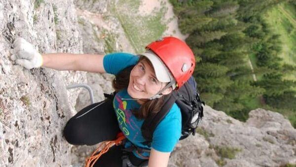 Dağ tırmanışı için ülkesi Ukrayna'dan Antalya'ya 1 Mayıs Cumartesi günü gelen 42 yaşındaki Yana Kryvosheia - Sputnik Türkiye