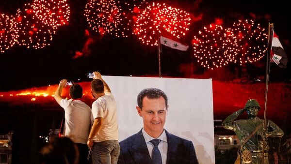 Suriye - Beşar Esad - seçim - kutlama - Sputnik Türkiye