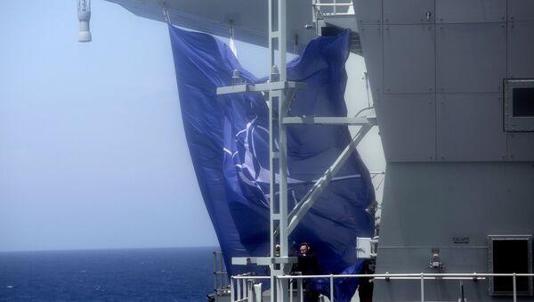 NATO - NATO bayrağı - Portekiz açıkları - NATO Steadfast Defender 2021  - uçak gemisi HMS Queen Elizabeth - Sputnik Türkiye