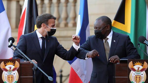 Macron - Güney Afrika - Sputnik Türkiye