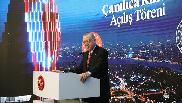 Cumhurbaşkanı Recep Tayyip Erdoğan - Çamlıca Kulesi Açılış Töreni - Sputnik Türkiye