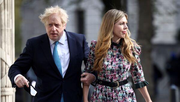 İngiltere Başbakanı Boris Johnson, eşi Carrie Symonds - Sputnik Türkiye