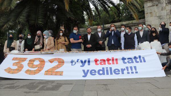 AK Partili gençlerin baklava protestosu - Sputnik Türkiye