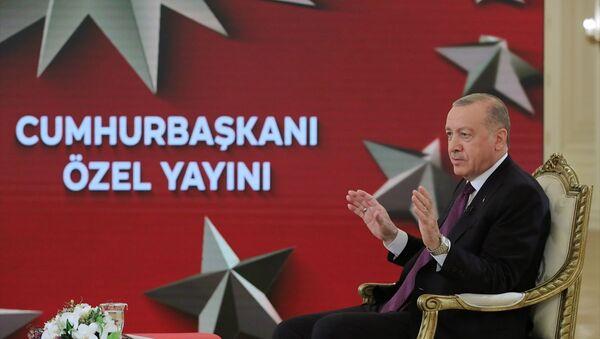 Cumhurbaşkanı Recep Tayyip Erdoğan - TRT - Sputnik Türkiye