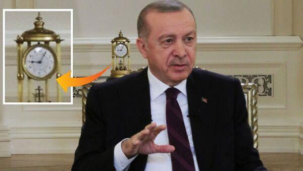 Erdoğan'ın televizyon programındaki saat - Sputnik Türkiye