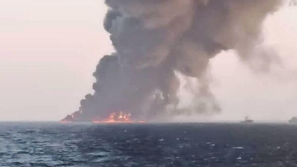 İran'da petrol rafinerisinde yangın - Sputnik Türkiye