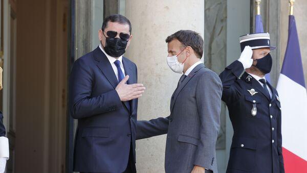 Emmanuel Macron - Abdulhamid Dibeybe - Sputnik Türkiye