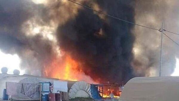 Irak'ta göçmen kampında yangın - Sputnik Türkiye