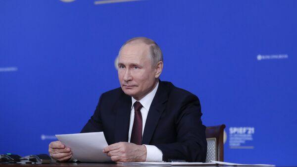 Rusya Devlet Başkanı Vladimir Putin - SPIEF - Sputnik Türkiye