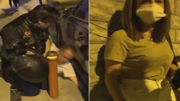 Şişli'de motosikletlilerin kurtardığı kadın-darp - Sputnik Türkiye