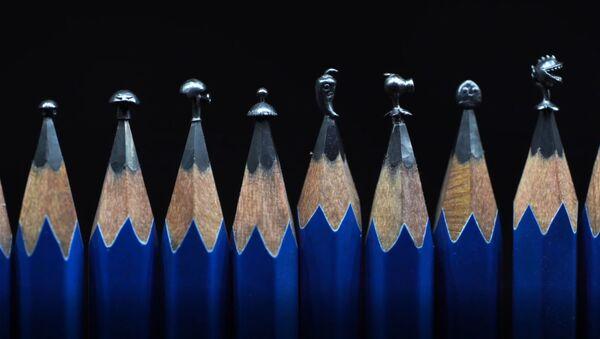 Çinli sanatçı yaptığı mikro heykelciklerle kalem uçlarına yaşam katıyor - Sputnik Türkiye