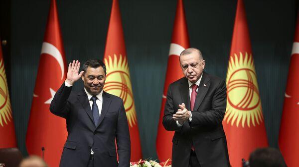 Türkiye Cumhurbaşkanı Erdoğan - Kırgızistan Cumhurbaşkanı Caparov - Sputnik Türkiye