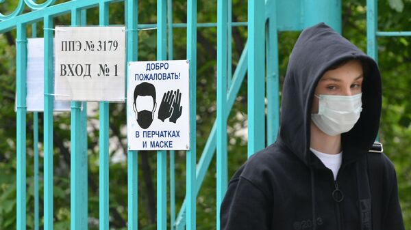 Rusya - Moskova - koronavirüs - Kovid-19 - maske - Sputnik Türkiye