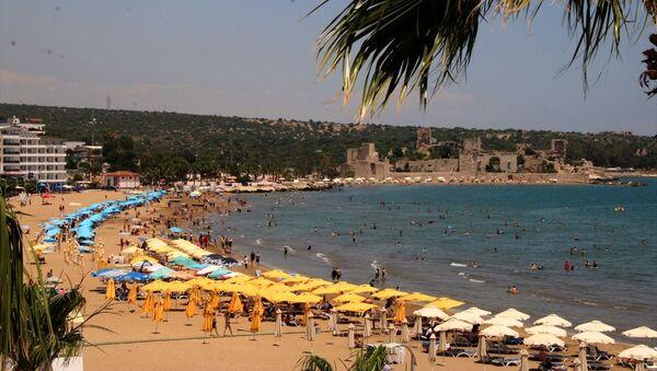Mersin'deki Kızkalesi turist plaj - Sputnik Türkiye