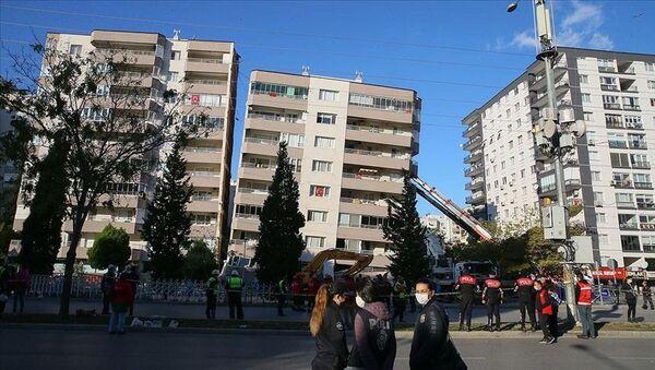 İzmir / deprem / bina - Sputnik Türkiye