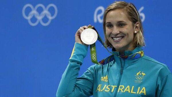 Avustralya'nın iki Olimpik gümüş madalyalı yüzücüsüMadeline Groves - Sputnik Türkiye