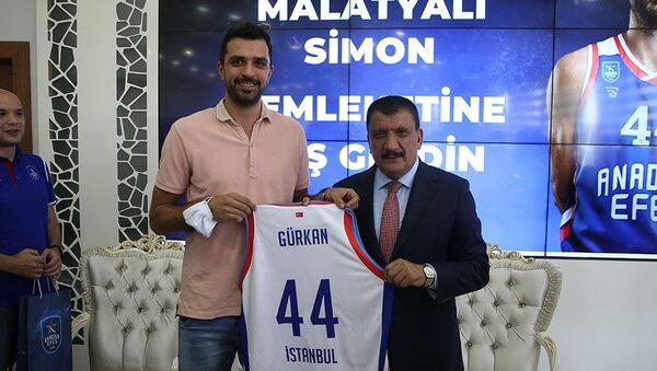 Anadolu Efes'in Hırvat oyuncusu Krunoslav Simon'a Malatya'da fahri hemşehrilik beratı verildi - Sputnik Türkiye