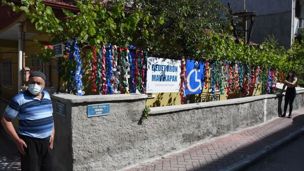 Dede torun mavi kapak projesi Eskişehir-Halit Aydoğan ve Melike Sarıtaş - Sputnik Türkiye