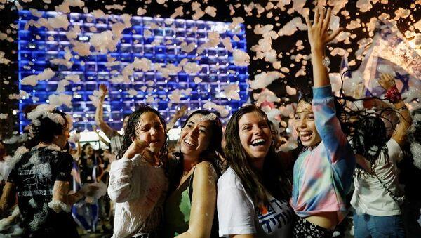 İsrail kutlama - Sputnik Türkiye