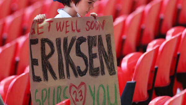 Christian Eriksen'e destek mesajları - Sputnik Türkiye