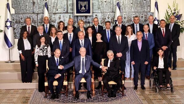İsrail'de yeni hükümet aile fotoğrafı çektirdi - Sputnik Türkiye