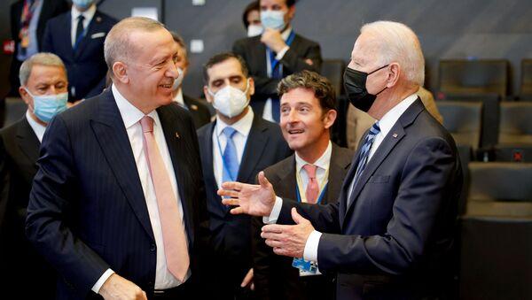 Recep Tayyip Erdoğan - Joe Biden - Sputnik Türkiye