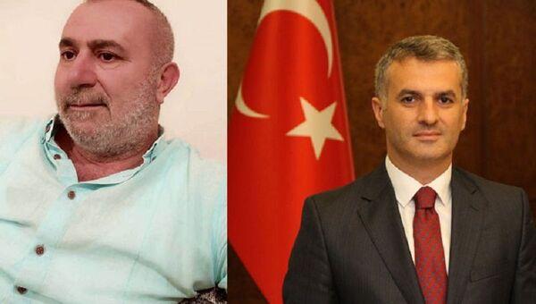 Azmmettiricinin babası Ayhan Kılıç-Yomra Belediye Başkanı Mustafa Bıyık - Sputnik Türkiye