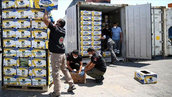 Mersin Limanı'ndaki operasyonda 150 kilo kokain ele geçirildi - Sputnik Türkiye