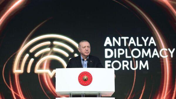 Recep Tayyip Erdoğan - Antalya diplomasi forumu - Sputnik Türkiye