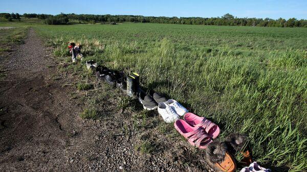 Kanada- Yerli çocuklara ait mezarlar - Sputnik Türkiye