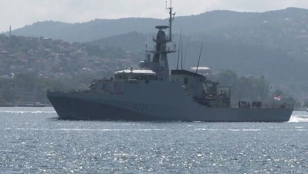 İngiliz savaş gemisi HMS Trent İstanbul Boğazı - Sputnik Türkiye