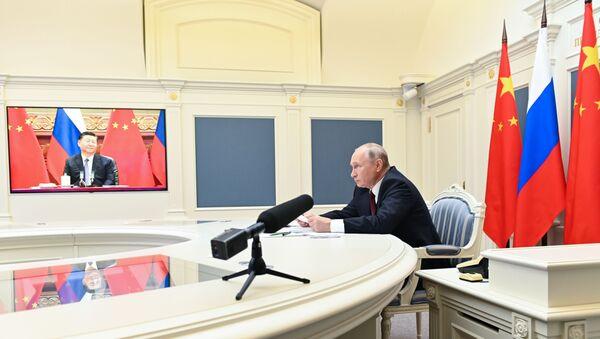 Çin Devlet Başkanı Şi Cinping - Rusya Devlet Başkanı Vladimir Putin  - Sputnik Türkiye