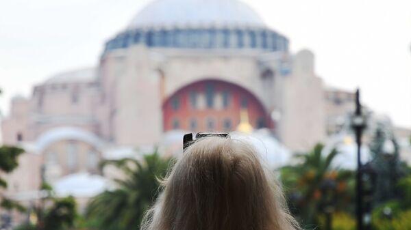 Turist, Rus turist, Ayasofya - Sputnik Türkiye