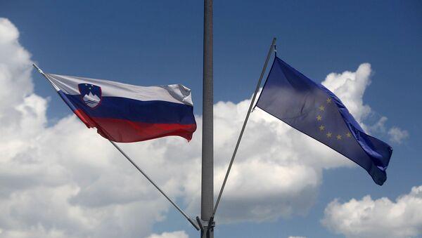 Avrupa Birliği - Slovenya - bayrak - Sputnik Türkiye
