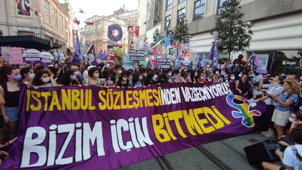 Taksim'de İstanbul Sözleşmesi - Sputnik Türkiye