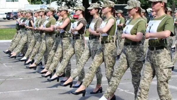 Ukrayna - kadın askerler - Sputnik Türkiye