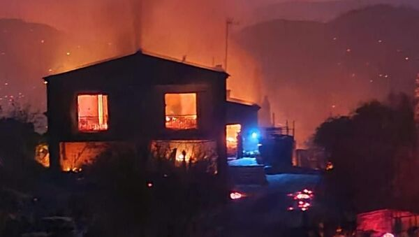 Güney Kıbrıs, öğle saatlerinde çıkan ve kısa sürede geniş alana yayılan yangın nedeniyle ülke genelinde acil durum ilan ederken, yangını söndürme çalışmalarında 1 çiftçi hayatını kaybetti. - Sputnik Türkiye
