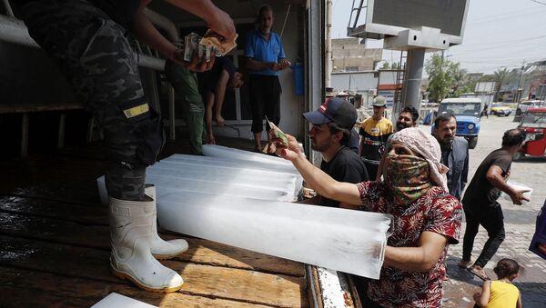 Irak - buz - sıcaklık - Sputnik Türkiye