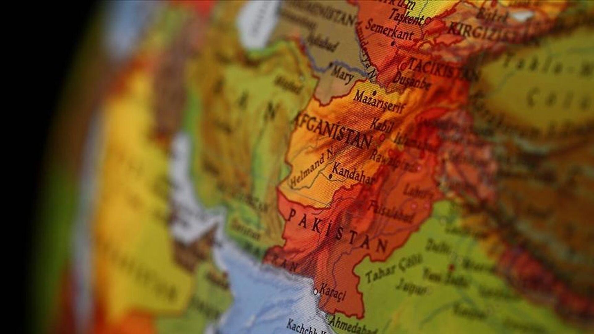 Dünya haritasında Afganistan - Sputnik Türkiye, 1920, 03.08.2021