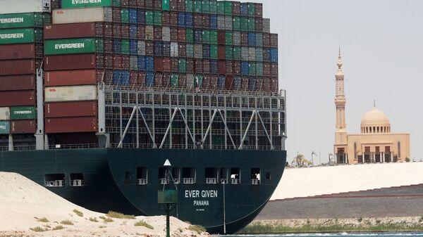 Ever Given konteyner gemisi, Mısır - Sputnik Türkiye