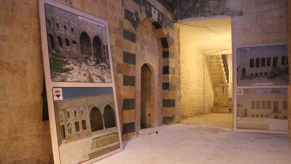 Halep'te tarihi pazar yeri restorasyonu - Sputnik Türkiye