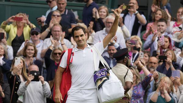 Roger Federer, Hubert Hurkacz'a 3-0 yenilerek Wimbledon'a çeyrek finalde veda etti - Sputnik Türkiye