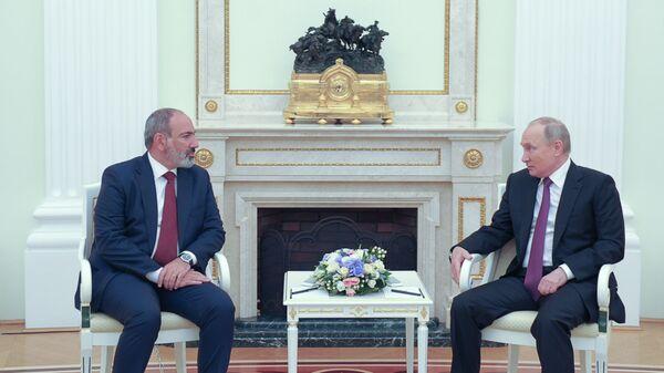 Putin - Paşinyan Kremlin - Sputnik Türkiye