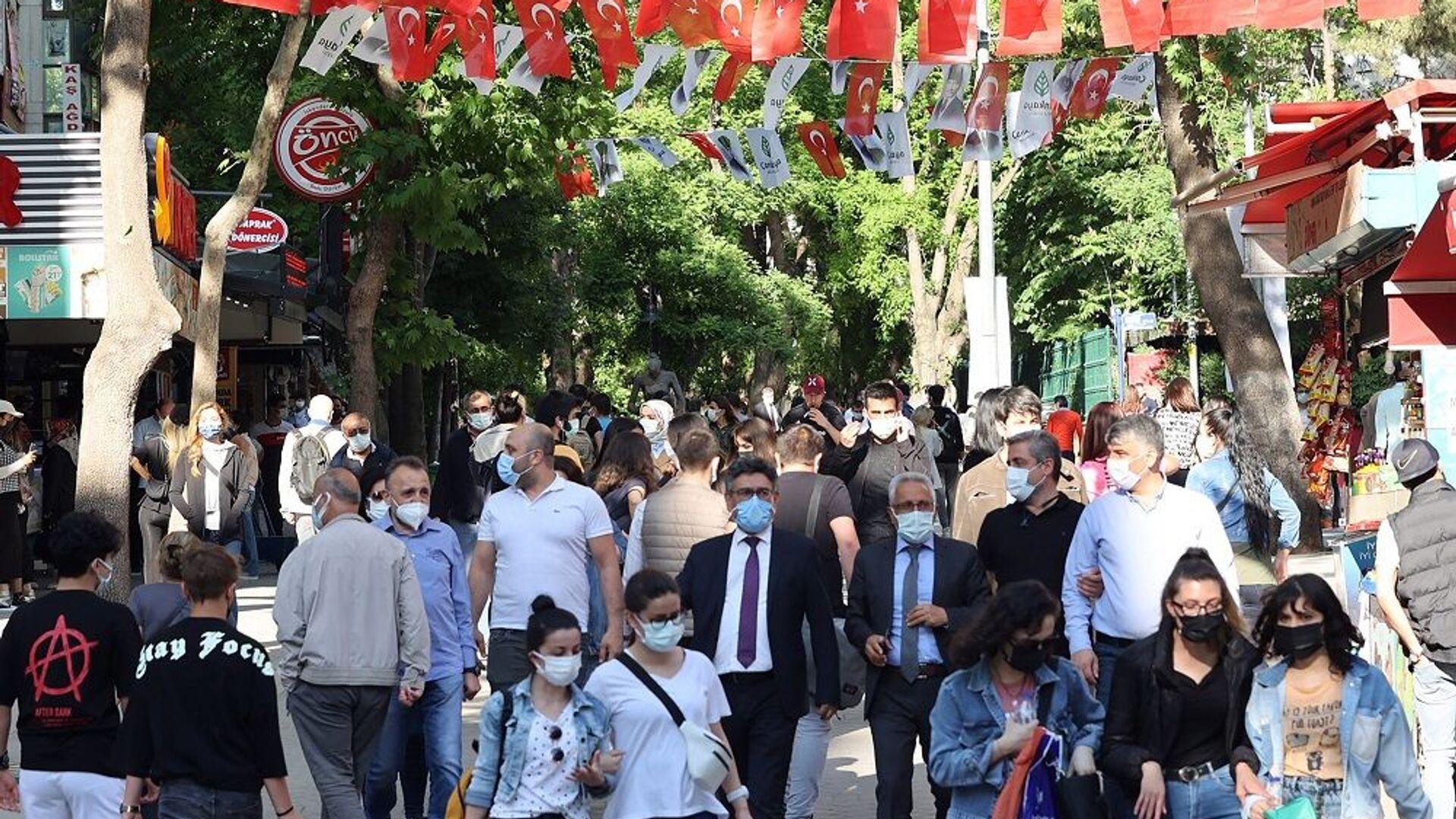 Vaka-maskeli insanlar-Ankara - Sputnik Türkiye, 1920, 14.07.2021
