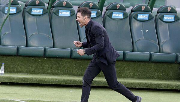 Atletico Madrid, teknik direktör Simeone'nin sözleşmesini uzattı - Sputnik Türkiye