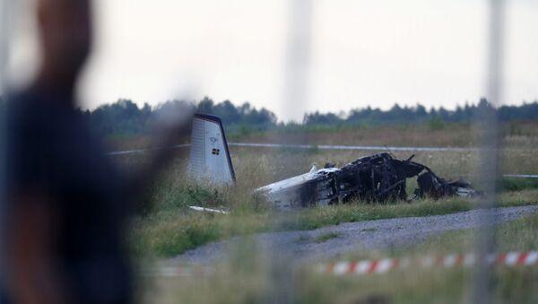İsveç'in Orebro kenti yakınlarında içinde 9 kişinin bulunduğu uçağın, kalkışın ardından kısa bir süre düştüğü bildirildi. - Sputnik Türkiye