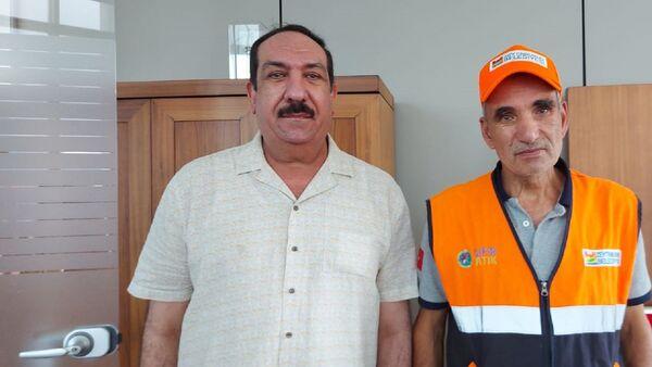Zeytinburnu'nda temizlik işçisi olarak çalışan Abdülkerim Sağlar - Iraklı Taha Alani - Sputnik Türkiye