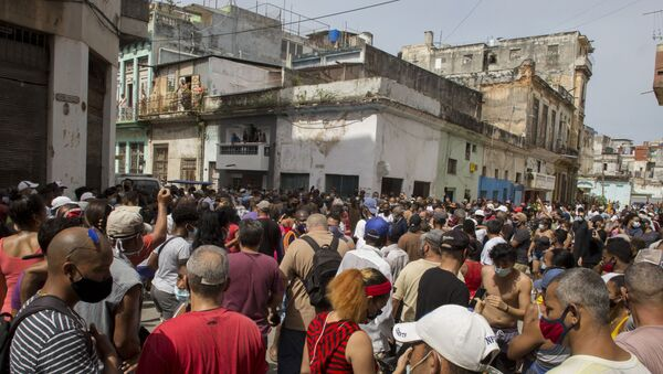 Küba - Protesto - 2021 - Sputnik Türkiye